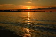 須磨海岸の朝1
