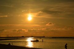 須磨海岸の朝3