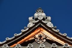 達磨寺達磨堂・鬼瓦3