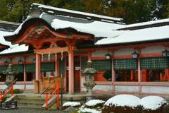 西院春日神社の冬