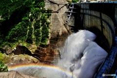 放水と虹*