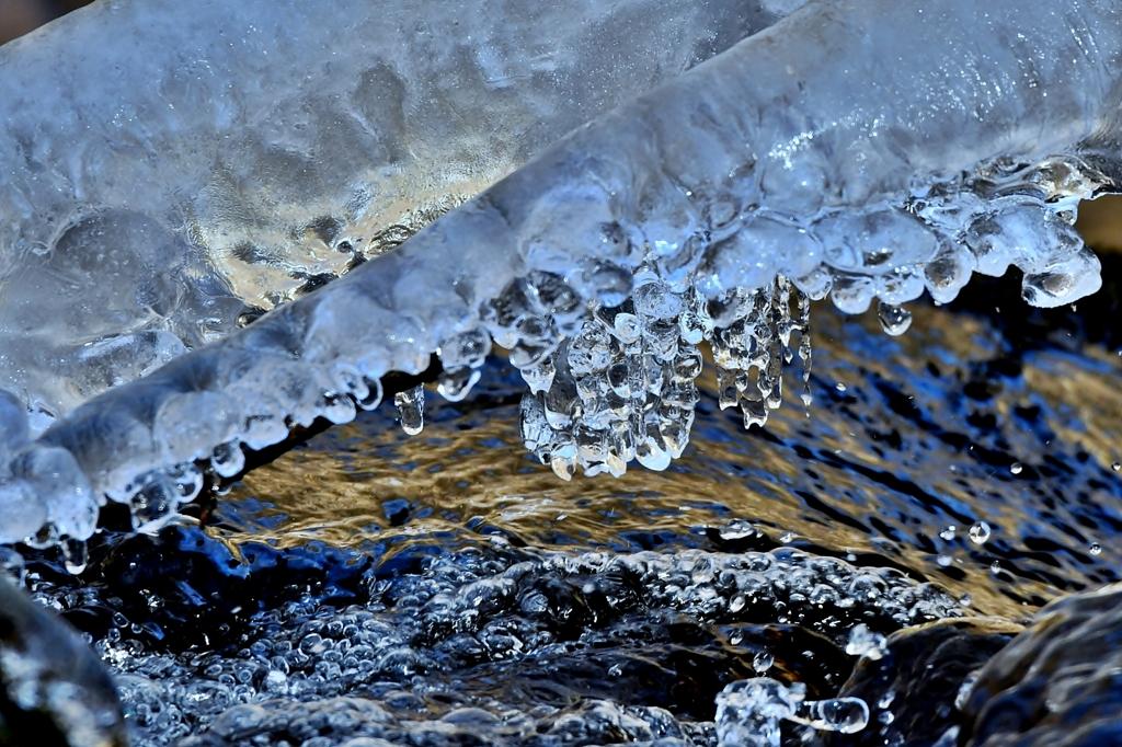 Mountain stream ice**