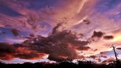 安曇野夕景(雲)