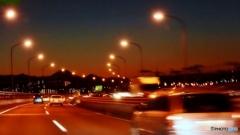 中央高速夕景