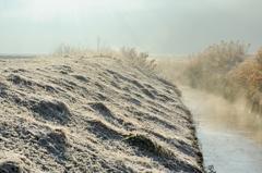 流れ行く冬の日