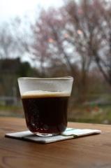 桜とコーヒー