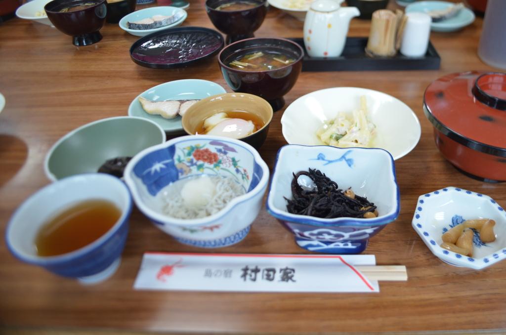 「村田家」朝食。お世話になりました!