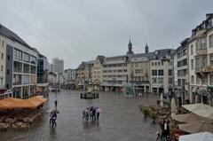 ドイツ&ベルギーの旅 旧市庁舎の野外階段の上から・・・