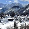 二部作「明暗」 冬晴れの 眩しき里の 雪景色