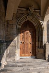 ボヘミア王の紋章がある扉