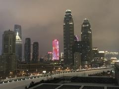 ホテルから見る天津夜景