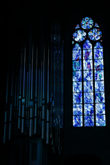 シャガール最後のステンドグラスとパイプオルガン1 聖シュテファン教会@マインツ