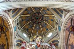 聖エリザベス教会 クロッシング・中央ドーム天井@ボン