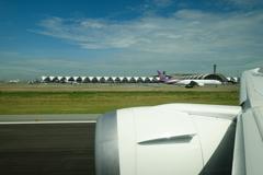 スワンナプーム国際空港離陸