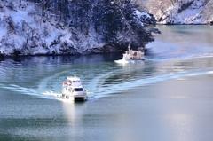 冬の庄川峡 お帰りなさ〜い♪