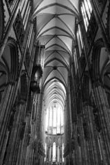 BW見上げる世界 ケルン大聖堂2@ケルン