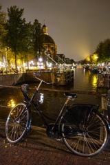 運河夜景@アムステルダム