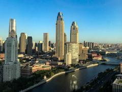 朝・・・27階からの眺め@天津