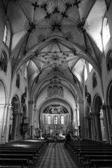 BW見上げる世界 聖カストール大聖堂@コブレンツ