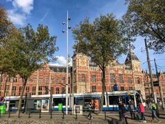 アムステルダム中央駅到着