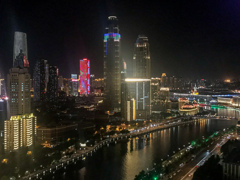 夜・・・27階からの眺め@天津