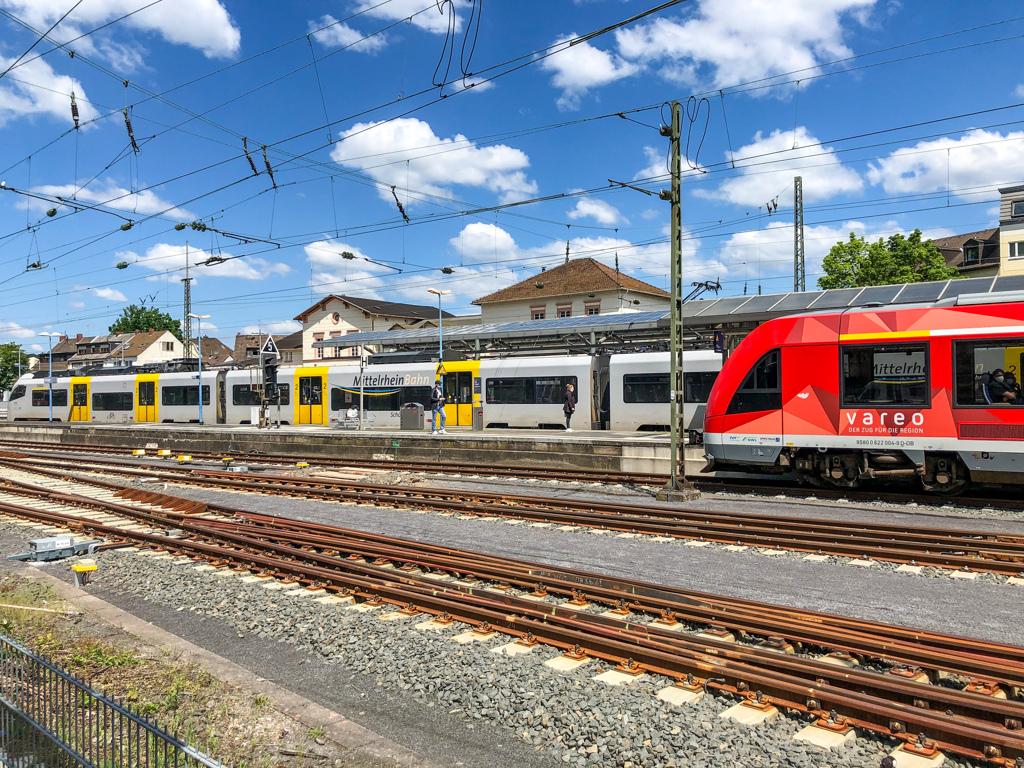 田舎駅ながらホームが多いレマーゲン駅