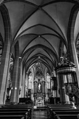 """BW見上げる世界 """"黒"""" 聖ランベルトゥス教会@デュッセルドルフ"""