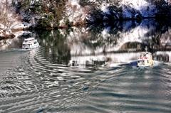 冬の庄川峡 交わり