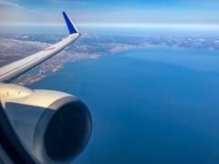 富山湾上空から北上へ