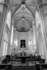 """BW見上げる世界 """"白"""" 聖アンドレアス教会@デュッセルドルフ"""
