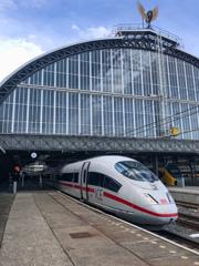 ドイツ行きICE Internationa@アムステルダム中央駅