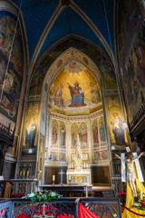 美しきアルプ(後陣)フレスコ画 アポリナリス教会@レマーゲン