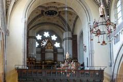 聖エリザベス教会 バラ窓とパイプオルガン@ボン