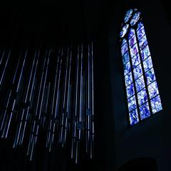 シャガール最後のステンドグラスとパイプオルガン2 聖シュテファン教会@マインツ
