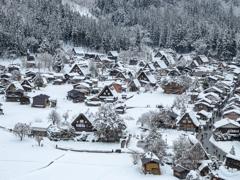 雪のお正月 白川郷