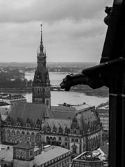 BW見渡す世界 聖ニコライ教会尖塔からの眺め@ハンブルク