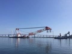 2,200t起重機船 @富山新港