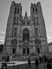 BW見上げる世界 サン・ミッシェル大聖堂1@ブリュッセル