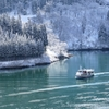 冬の庄川峡 淡雪淡陽2