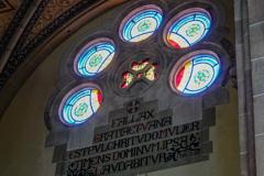 聖エリザベス教会 翼廊・バラ窓@ボン