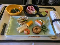機内サービス・・・和食チョイスです♪