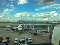 ヴァーツラフ・ハヴェル・プラハ国際空港到着
