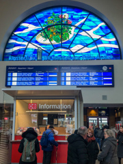 ボン中央駅から・・・