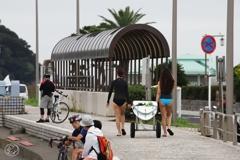 サイクラーとサーファー