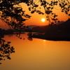 白石川の夜明け