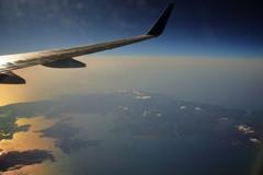 能登半島に夕日が射すころ