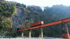 百枝トンネルと百枝鉄橋