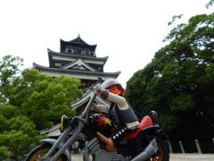 広島城とボス君