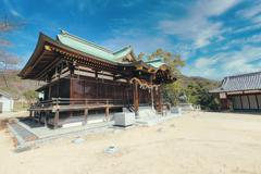 桜八幡神社にて