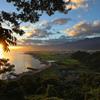 夜明けの海岸線